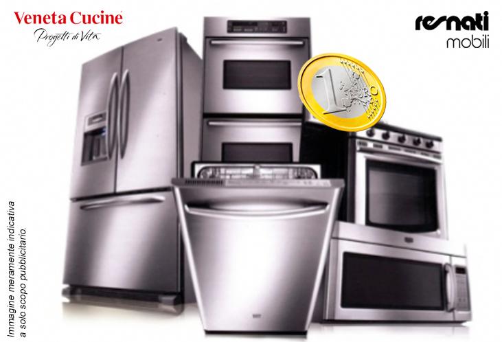 Elettrodomestici a solo 1 euro con Veneta Cucine | Resnati Mobili