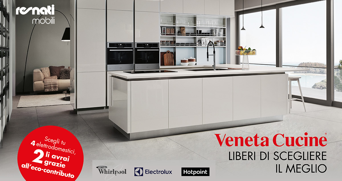 Elettrodomestici a solo 1 euro con Veneta Cucine | Resnati ...